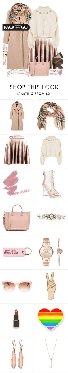 """""""pack and go winter getaway"""" by harleenquinzelx ❤ liked on Polyvore featuring Burberry, Boohoo, Dolce&Gabbana, Various Projects, Michael Kors, Chanel, Lucky Brand, Georgia Perry, Robert Lee Morris and EF Collection"""