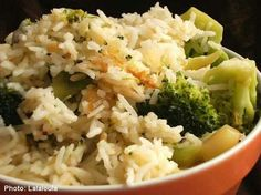 Cheese rice and broccoli
