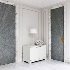 doors and marble casing
