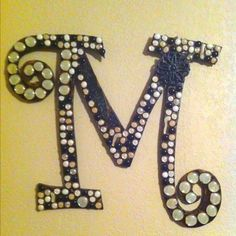 "Personalized Letter ""M"" from the Stone Junkie"