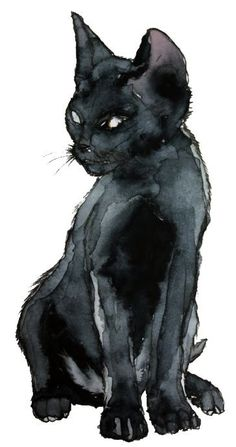 Awesome Art / Black Cat / Halloween Art