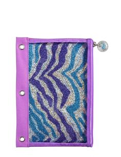 Glitzy Zebra 3 Ring Pencil Pouch | Girls Backpacks & School Supplies Accessories | Shop Justice