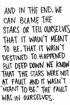 Fault in our stars!!