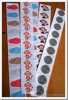 Caps for Sale~Cutting Strips, Free Download Preschool Literacy, Preschool Books, Kindergarten Activities, Book Activities, Number Activities, Preschool Social Studies, Clothing Themes, Five In A Row, Creative Curriculum