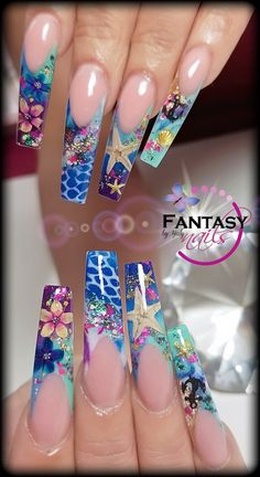 Best Winter Nail Art Ideas 2019 - Page 14 of 63 Beautiful Nail Designs, Cute Nail Designs, Acrylic Nail Designs, Dope Nails, Bling Nails, Fabulous Nails, Gorgeous Nails, Jolie Nail Art, Encapsulated Nails