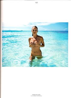 Kate Moss and the sea