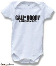 Call of Doody Bathroom Ops Duty MW3 Black Ops Gamer Geek Funny Saying Baby Onesie for Boys and Girls Cute Baby Shower Gift