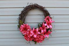 Spring wreath. Summer wreath. Mother's Day gift. by JBakerDesign, $45.00