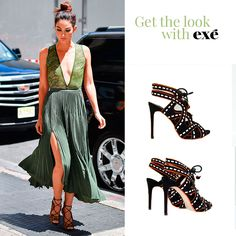 La modelo estadounidense Lily Aldridge, imagen de Victoria's Secret, combina a la perfección una sandalia tacón de cordonera delantera con un vestido vaporoso. ¿Quieres conseguir este look tan #chic? Exé quiere que conozcas esta sandalia. 👉http://bit.ly/EXE-sandalia-SILVIA #exeshoes #exeshoes_spain #exechicas