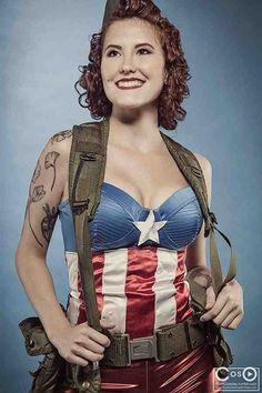 Fem Captain America - Marvel Comics