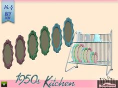 BuffSumm's 1950s Kitchen Drainer Plate C