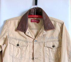 Vintage Beige  Cotton Oversize Button Up Biker by artwardrobe, $28.00