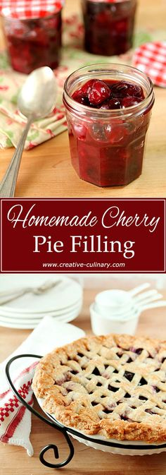Put down that can! It's a bit more work but the end result of making your own Cherry Pie Filling is so worth it! via @creativculinary