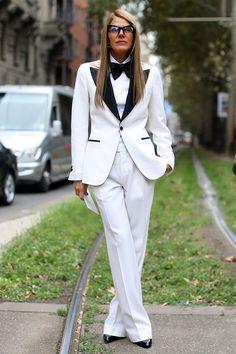 Street Style at Milan Fashion Week spring/summer 2014 collection