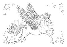 Sieh dir dieses Produkt an in meinem Etsy-Shop https://www.etsy.com/de/listing/266594109/pegasus-malseite-fur-erwachsene-pferde