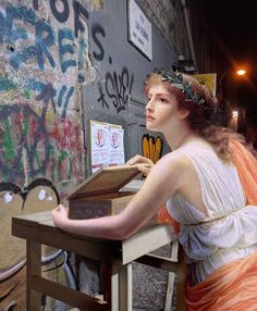 Alexey Kondakov Napoli Project contemporary photography classical painting - Classical Paintings Seamlessly Interact With Modern-Day Italy