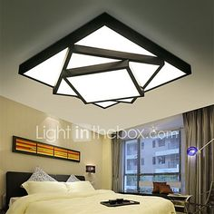 52cm Geometric Pattern Design Modern Style LED Ceiling Lamp Metal Flush Mount Living Room Bedroom 2017 - $109.4