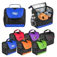 #Lunchcoolerbag with foil lining, Non woven ECO friendly made from recycled material at Graffix Promotional Inc.
