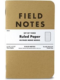 Field Notes Kraft Ruled 3-Pack ❤ FIELD NOTES BRAND