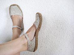 Eko Ladies Slippers Summer slippers white by BoryanacrochetBG