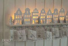 DIY: Adventskalender basteln mit beleuchteten Mini-Häusern Deko-Kitchen