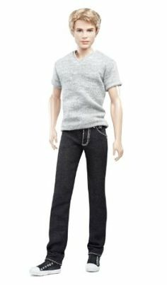 Barbie Collector Basics Ken Model #16 - Collection #2 by Mattel. $49.95. Barbie Basics takes the fashion basic to new heights with in denim. Featured in a variety of denim jeans with different cuts and colors and details. Jeans feature details such as real pockets with embroidered Barbie logo and metal grommets. Add one of the accessory packs to personalize your very own Barbie doll. Each doll has a unique T-shirt to coordinate with the jeans. Barbie Collector Barbie...