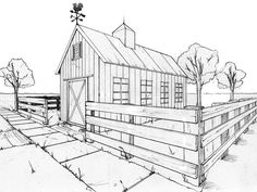 two point perspective building color - Google Search
