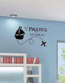 Items similar to It's a Pirates Life for Me Pirate Ship Quote Vinyl Wall Decal Decor Wall Lettering Words Quotes Decals Art Custom on Etsy Pirate Bathroom, Pirate Quotes, Pirate Nursery, Pirate Theme, Pirate Decor, Pirate Kids, Letter Wall, Wall Lettering, Vinyl Wall Decals