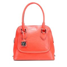 Maple and West London Fog Suffolk Dome Satchel - Poppy
