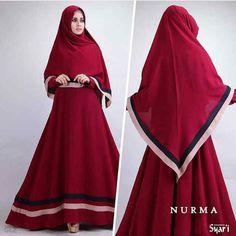Baju Muslim Polos B091 Nurma Syar'i Trendy - http://bajumuslimbaru.com/baju-muslim-polos-b091-nurma-syari #BajuMuslimCrepe