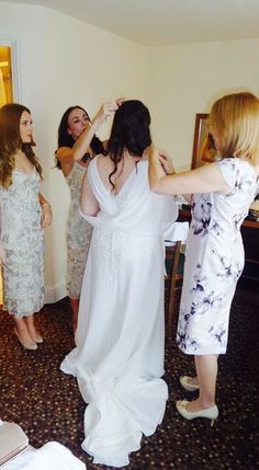 Quick snap of my little sisters & mum helping me get ready