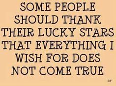 Oh! Some people should be VERY thankful! LOL!