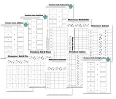 Free Math Worksheets: Dice & Domino Math Games