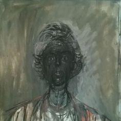 Alberto Giacometti's Annette in oil--1961
