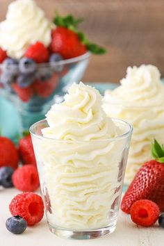 This Stabilized Mascarpone Whipped Cream is easy to make and perfect for frosting cakes, topping pies, eating with fruit - or even just by the spoonful!