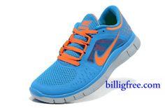 brand new 32b21 3def9 Verkaufen billig Schuhe Damen Nike Free Run 3 (Farbe vamp,innen -blau,Logo-orange Sohle-grau) Online in Deutschland.