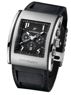 Hysek Design, technical, contemporary - by integrating materials such as rubber directly into its case middles, the brand lends a veritable sport-chic aspect to this Kilada 41mm Automatic Chronograph. The black dial and the rubber bracelet, not only increase its elegance, but also provide a subtle, all-encompassing visual effect.  The Kilada 41mm Automatic chronograph is available in steel, in a 41 mm case.   KN4102A02