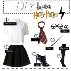 20 Most Popular DIY Halloween Costumes of Ranked - Harry Potter Costume - Halloween Halloween Costumes For Teens Girls, Halloween Costumes For Girls, Girl Costumes, Costumes For Women, Halloween Diy, Costume Ideas, Halloween Makeup, Halloween Costumes Glasses, Bricolage Halloween