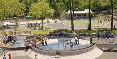 When Frederick Law Olmsted and Calvert Vaux designed Central Park in the Century, they designated this meadow in the southwest corner of the Park as a Cool Playgrounds, East Coast Travel, Nyc With Kids, Famous Landmarks, Central Park, New England, Acre, New York City, Beautiful Places