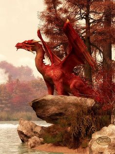 Thanksgiving-Red Dragon in Autumn by Daniel Eskridge