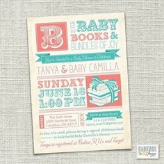 Book Theme Baby Shower Invitations | Book Shower Invitation Baby Shower / Graphic Arts - Juxtapost