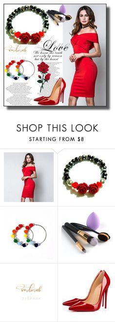"""""""77Spark 15"""" by dzemila-c ❤ liked on Polyvore featuring Christian Louboutin and 77spark"""