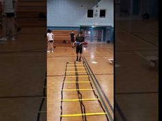 Two Foot Jump Every Third Rung Holding Weighted Ball. Physical Education, Ladder, Physics, Third, Hold On, Basketball Court, Fitness, Stairway, Physical Education Lessons