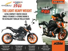Gear up with credence on the unstoppable machine. A beast-like design and a powerful engine makes KTM 200 Duke always race ready. Book Now: Call: 8722022400 Ktm 200, 2013 Honda, A Beast, Duke, Engine, Racing, Social Media, Book, Design