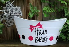 Personalized Hair Bow Bucket - TDY Designs