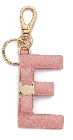 Salvatore Ferragamo Vara Letter E Keychain Summer Jewelry bcb0fb357ffcf