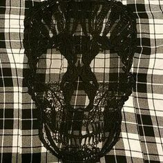 I just added this to my closet on Poshmark: Hot Topic black and white flannel with skull. Price: $15 Size: S