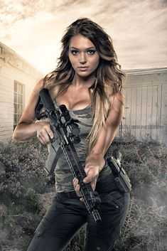 Images shared from all over the internet, mostly Guns & Babes but occasionally a few flyers. If your under you know better than looking any farther so go back to playing your video games. N Girls, Girls In Love, Shot To The Heart, Female Soldier, Military Girl, Warrior Girl, Military Women, Armada, Girl Pictures