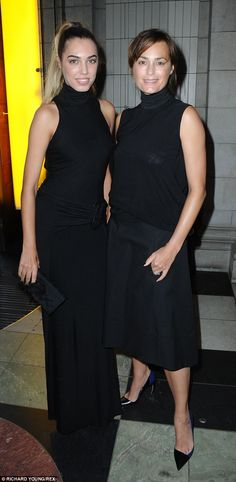 Black to basics: Wearing simple black attire, the mother-daughter duo managed to keep head...