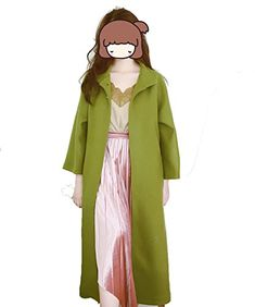 MT Mrs. Maisel Wool Coat Fruit Green Wool Outerwear Coats Retro Coat (X-Small)  Each person's height and temperament can't be compared with Mrs. Massel's upper body effect. Everyone can wear a different style. Please buy rational shopping I hope that clothes bring you beauty and more confidence. This is a custom product. It will arrive in about 20 days.The fabric is abotu 30 percent of the wool Related Post